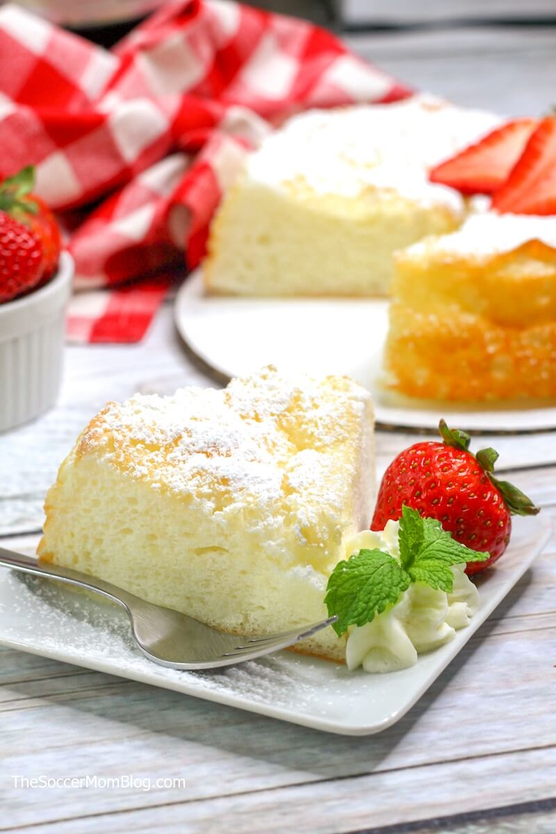 angel food cake made in an Instant Pot