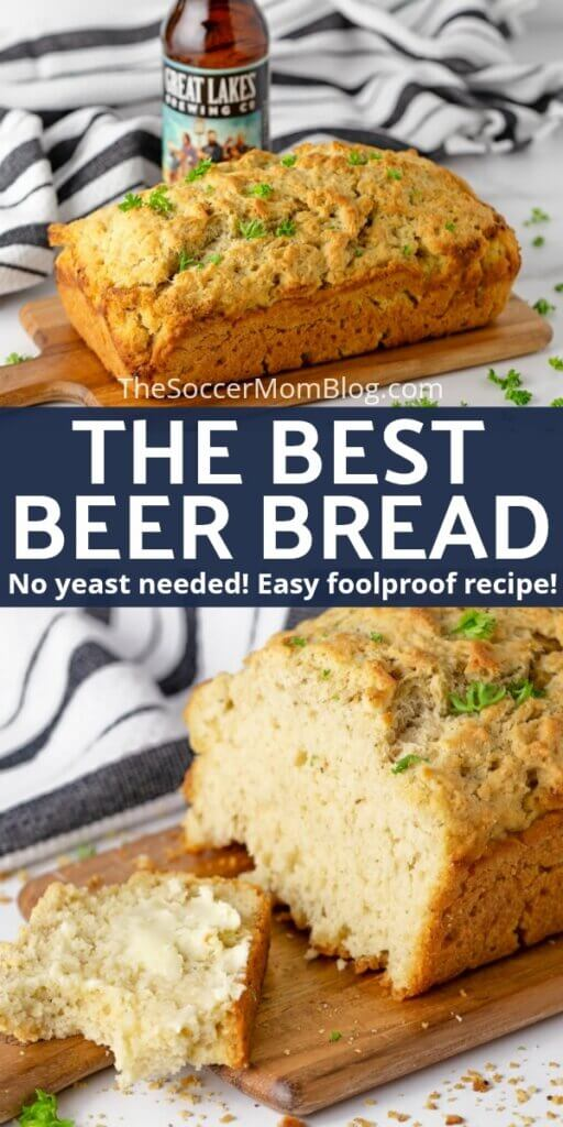 Fluffy and flavorful, this easy beer bread is a yeast-free bread recipe that is sure to become your new favorite!