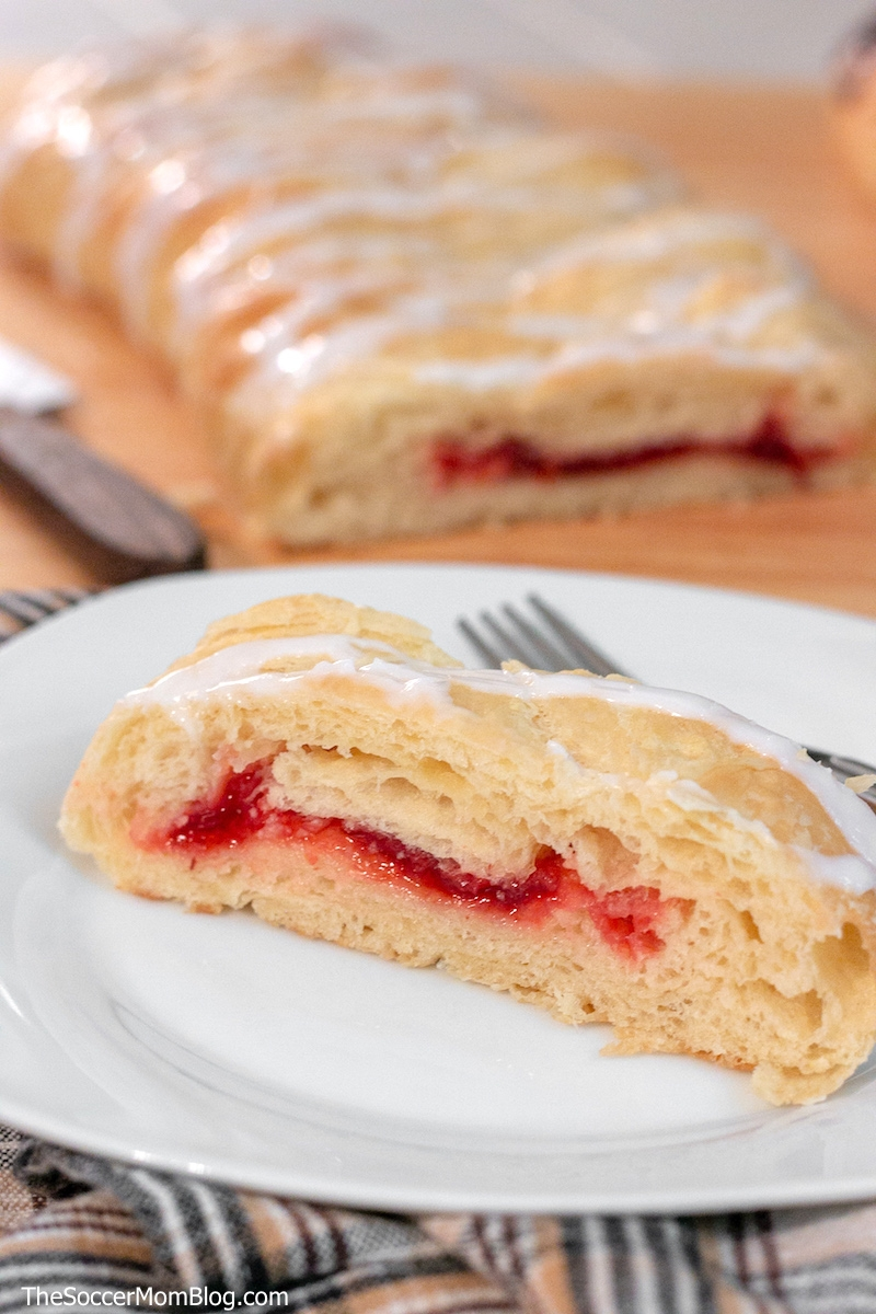 slice of Butter Braid filled sweet pastry