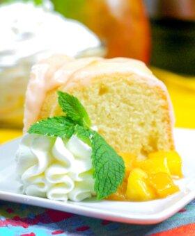 Instant Pot Mango Coconut Bundt Cake