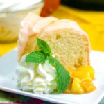 This sweet and fruity Instant Pot Mango Bundt Cake is a fresh and delicious dessert!