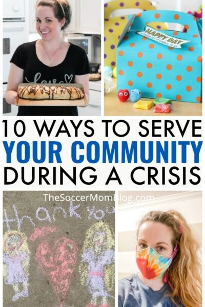 Simple, but thoughtful ways to help yourcommunity during a crisis -- even when you're staying close to home!