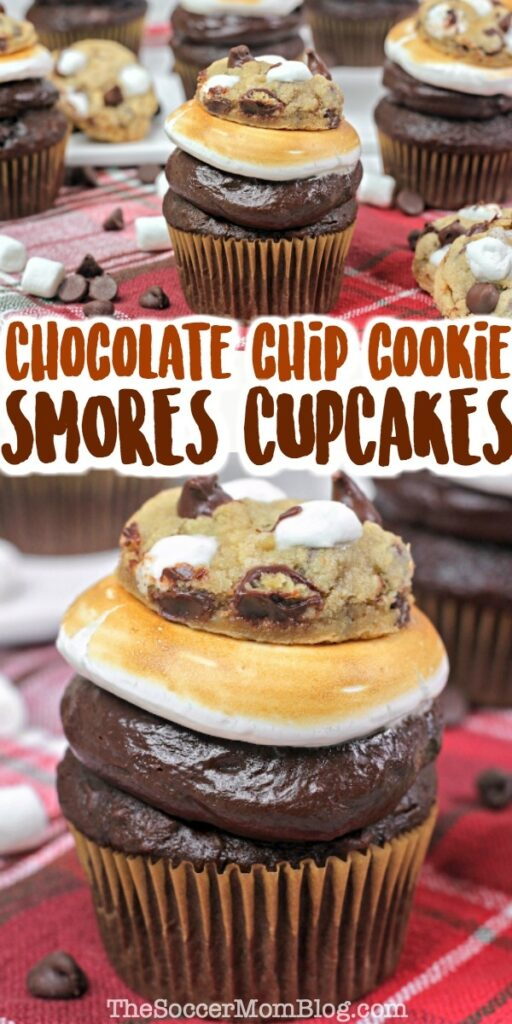 layered s'mores cupcakes