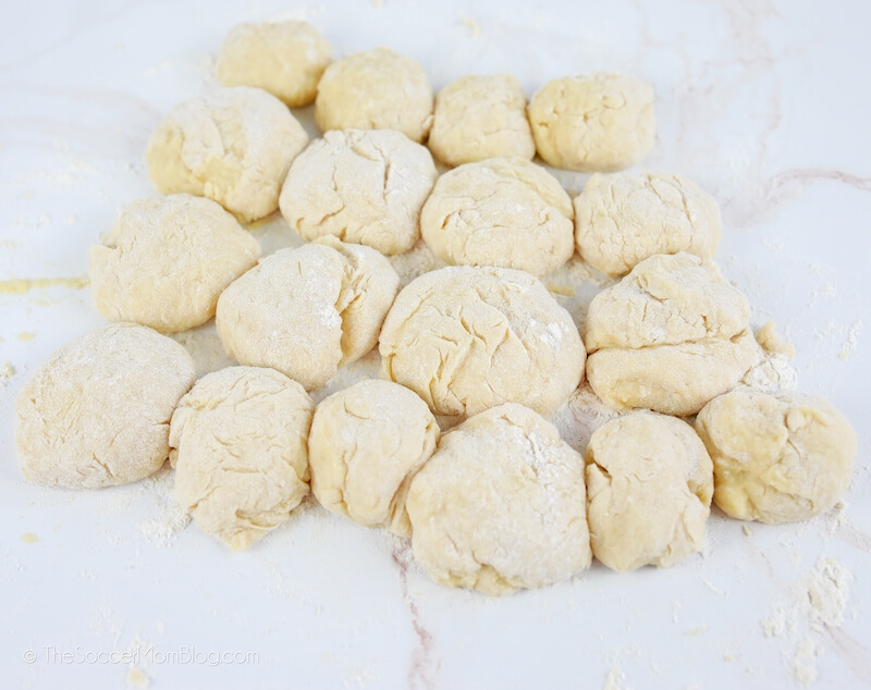 making rolls with yeast dough