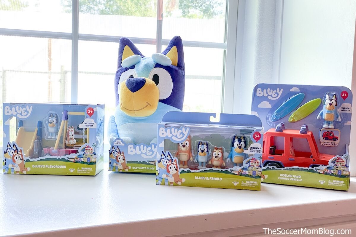 Bluey toys in packaging