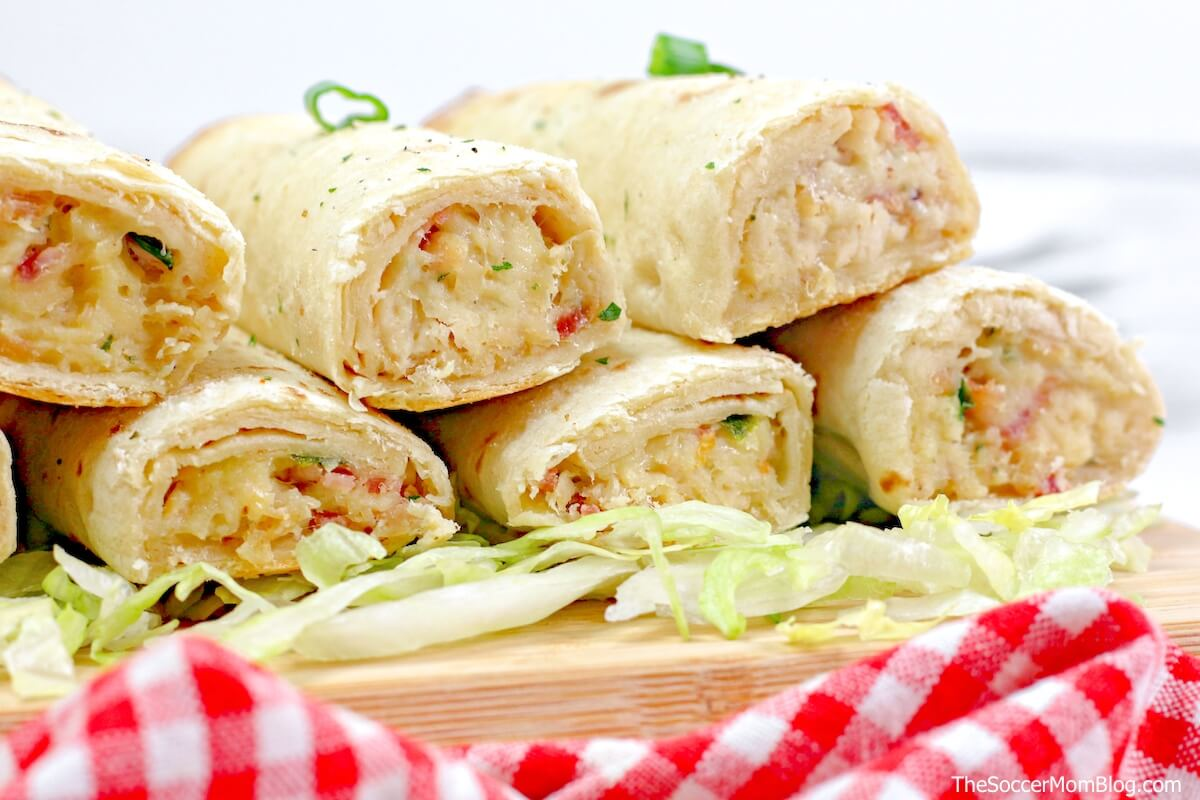 chicken taquitos with cheese and bacon