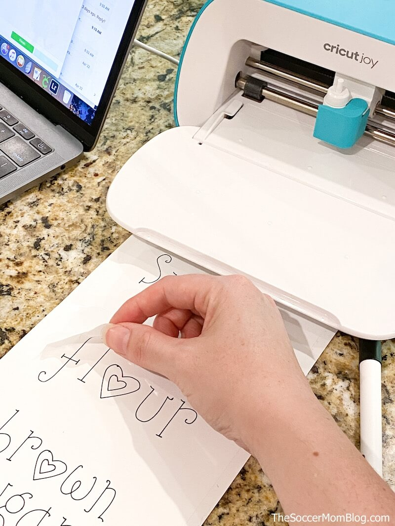 making labels with Cricut Joy