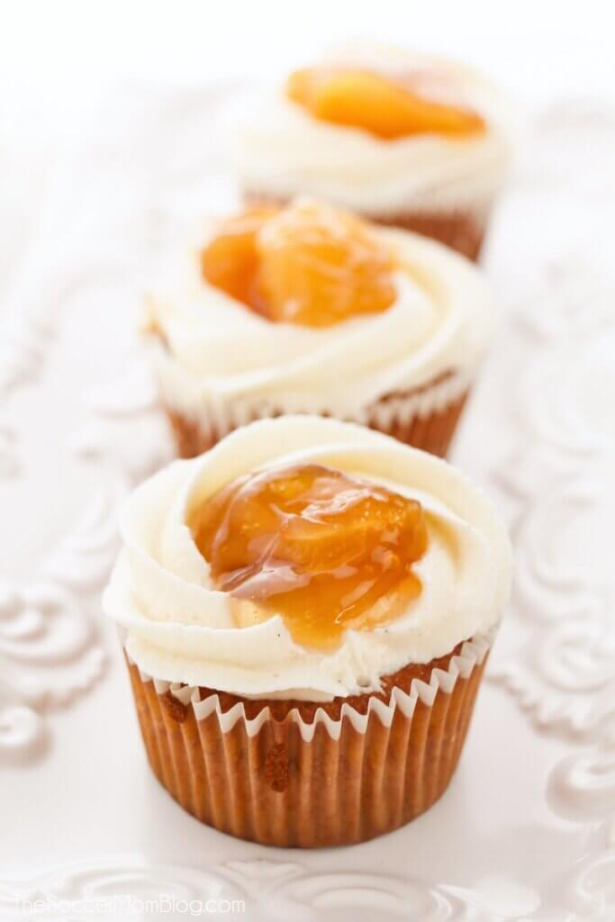 These delicious Apple Pie Cupcakes are the perfect sweet treat for any fall feast!