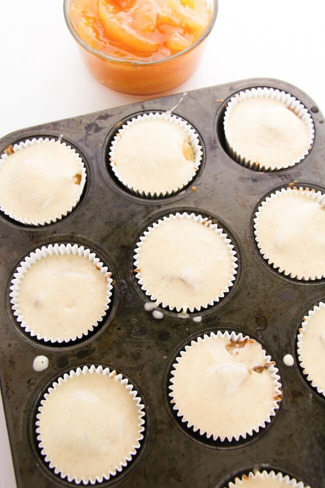 apple pie cupcakes ready to bake