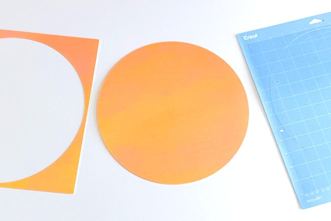 watercolor polka dot wall decals cut using a Cricut