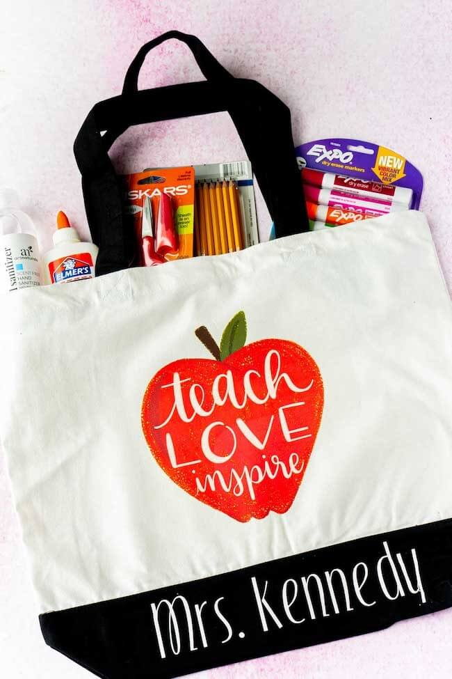 back to school tote for teachers