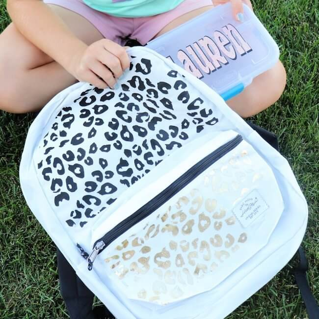 leopard print backpack decals