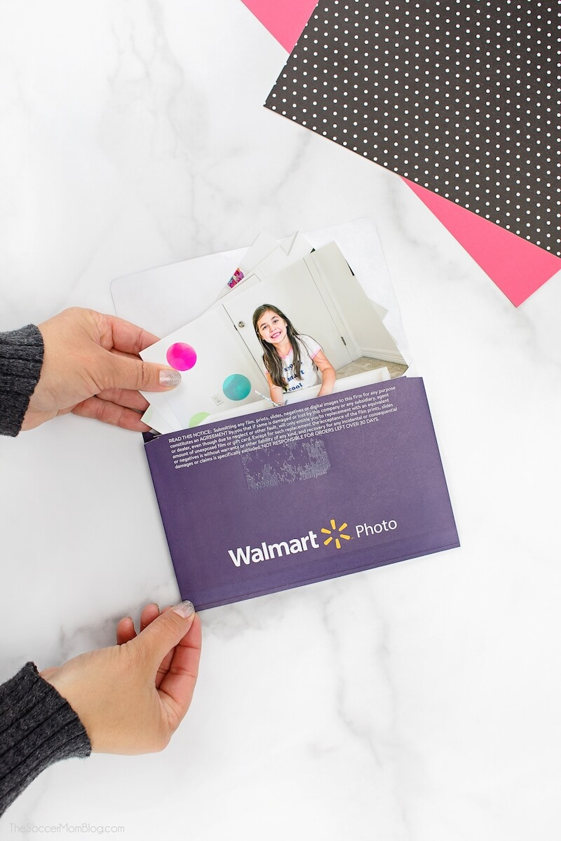 pulling photos out of Walmart Photo envelope