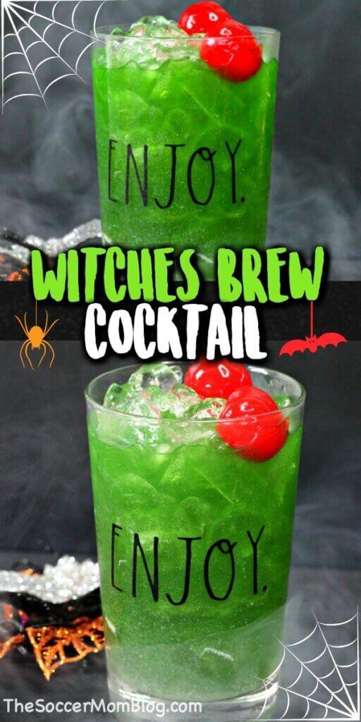 green Halloween cocktail