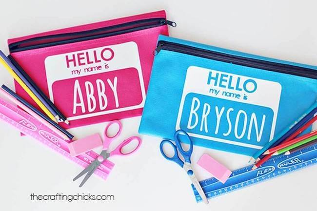 personalized pencil bags for school