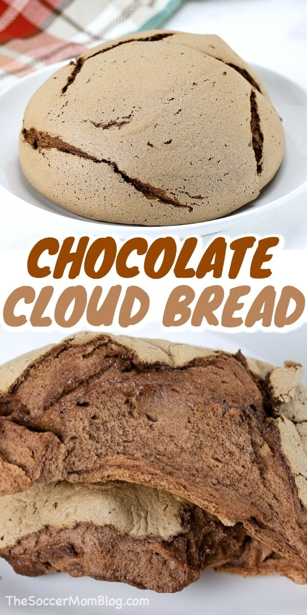 chocolate cloud bread photo collage