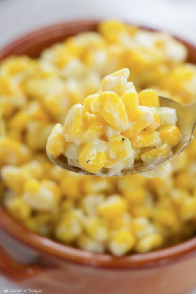 Creamy and delicious, this homemade Easy Creamed Corn Recipe beats anything from a can!