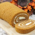A fun and festive fall dessert, this Pumpkin Spice Rolled Cake is so delicious and shareable!