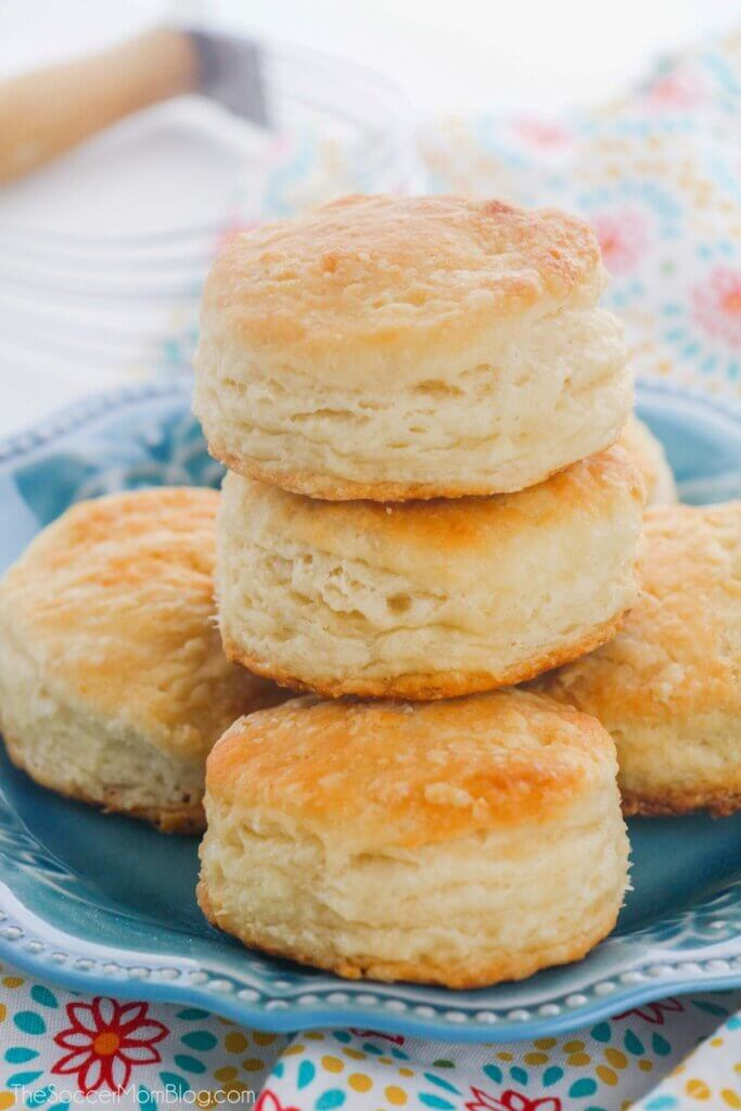 fluffy southern style biscuits on plate