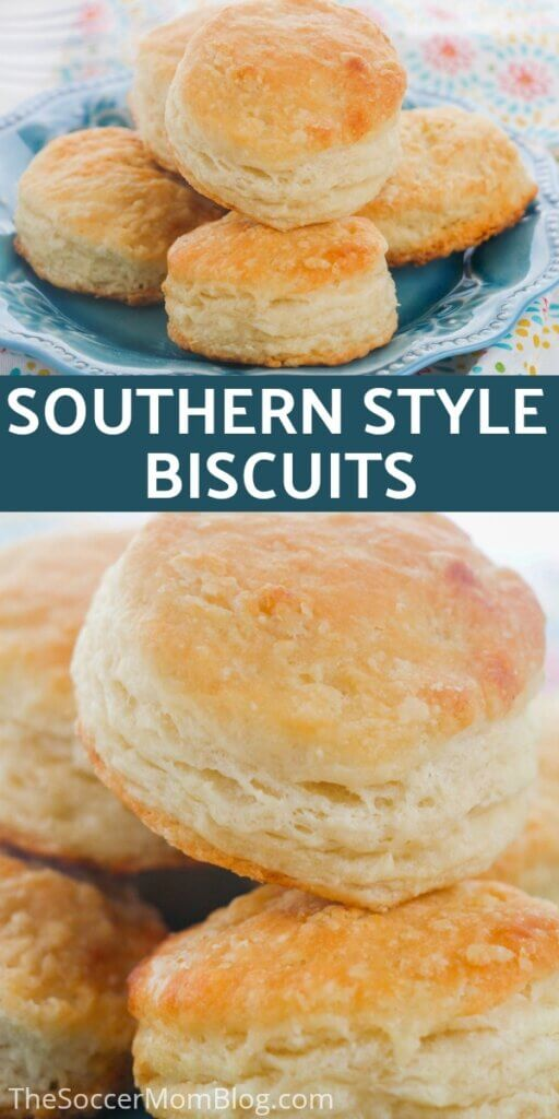 collage of images of southern style biscuits