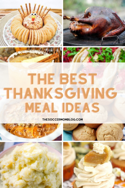 collage of Thanksgiving recipe ideas