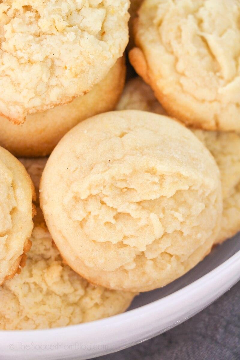 bowl of soft Amish sugar cookies