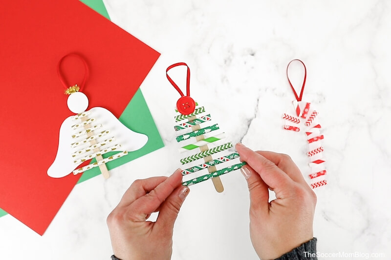 Christmas tree paper straw ornament