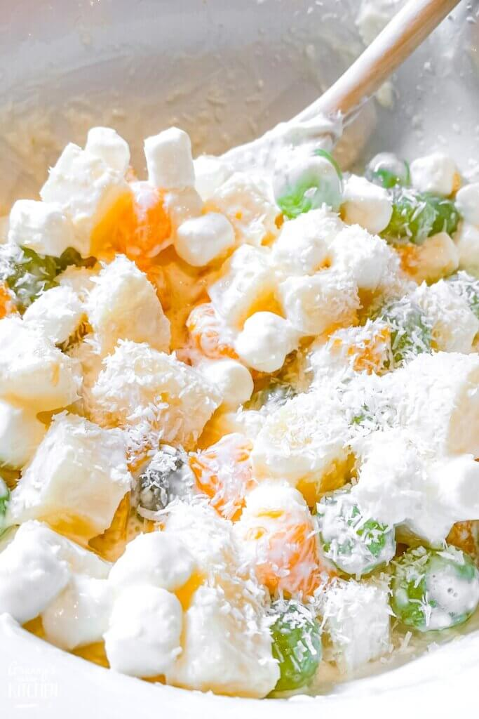 fruit and marshmallow salad