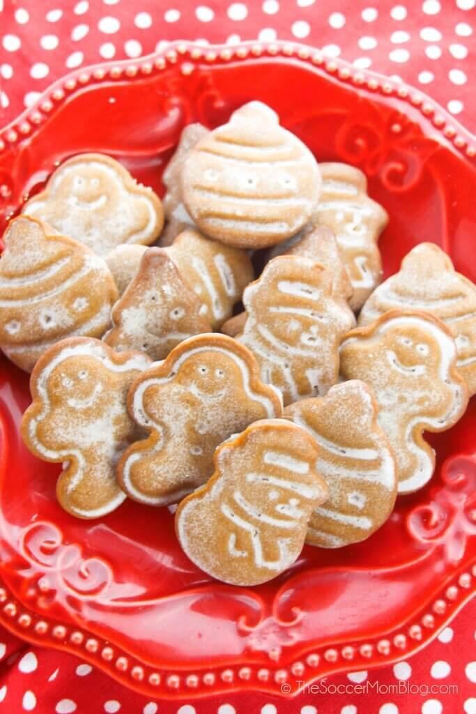 Diese köstlichen glasierten Lebkuchenplätzchen sind die perfekte Mischung aus Zucker und Gewürzen!