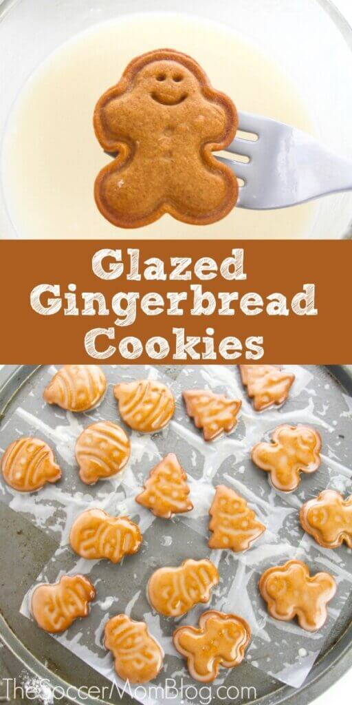 These delicious Glazed Gingerbread Cookies are the perfect mix of sugar and spice!