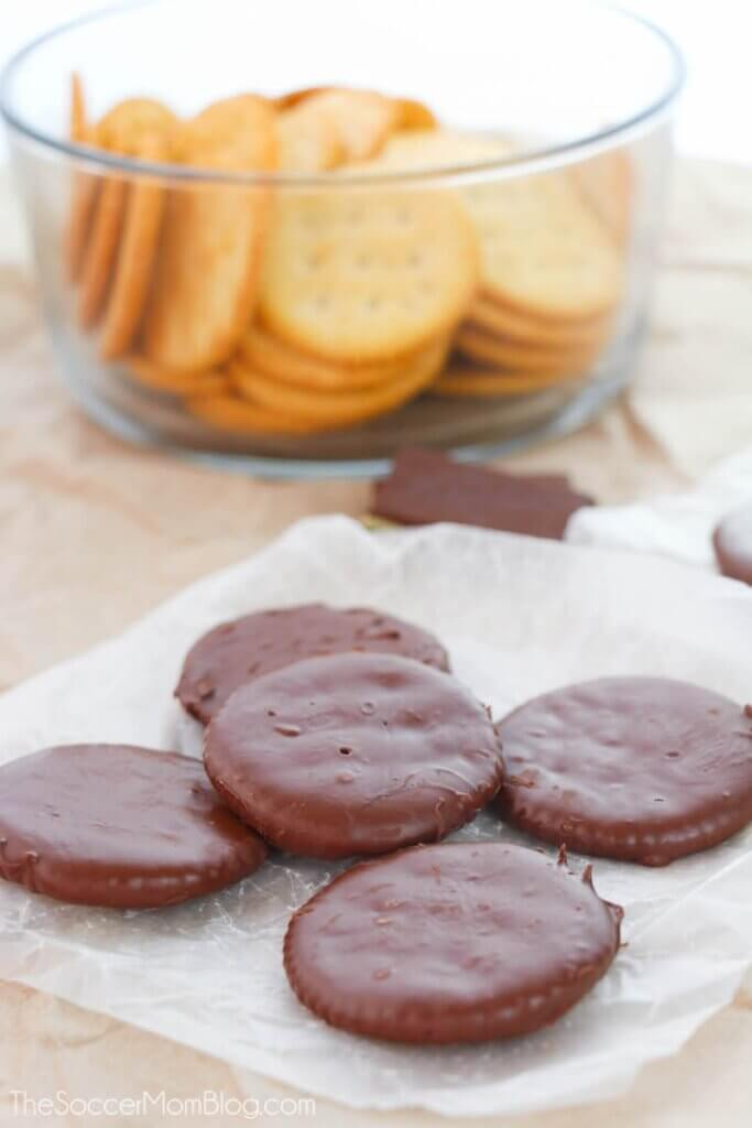 chocolate covered Ritz crackers thin mints