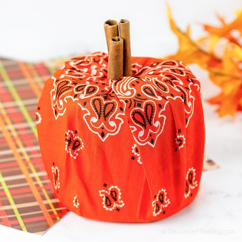 toilet paper pumpkin craft for fall