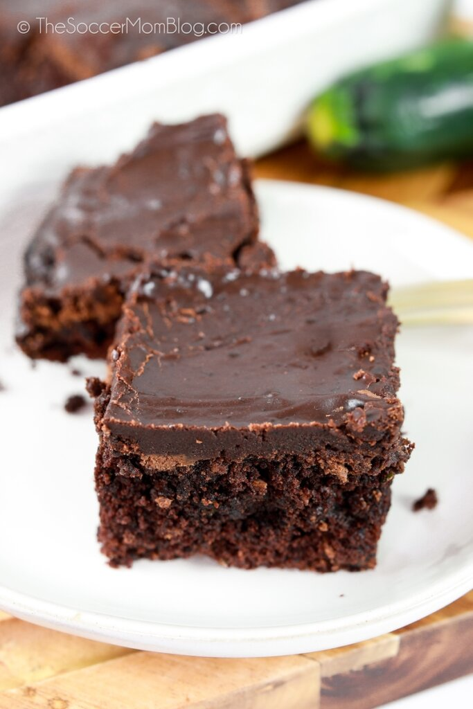 chocolate brownies made with zucchini