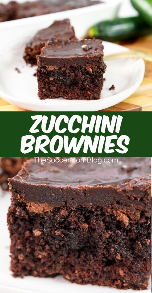 brownies made with zucchini and chocolate icing