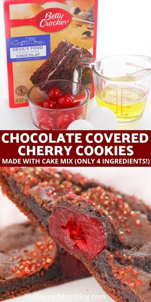 chocolate cherry cake mix cookies