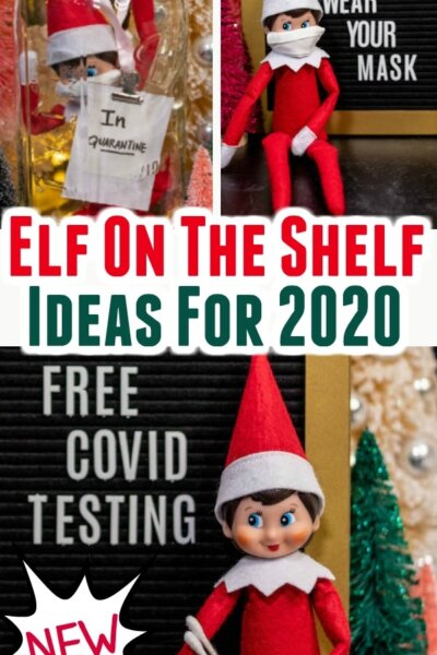 elf on the shelf ideas for 2020 - wearing face masks
