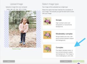 customizing an image in Cricut Design Space
