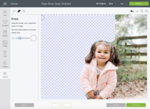 erasing background of a photo in Cricut Design Space
