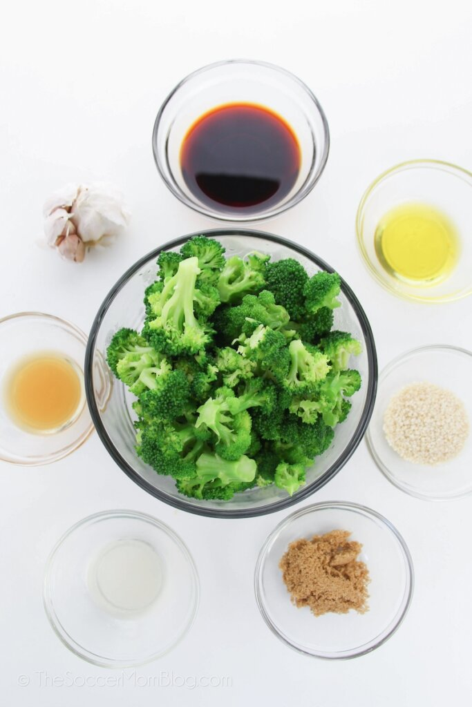 ingredients needed to make broccoli with garlic sauce