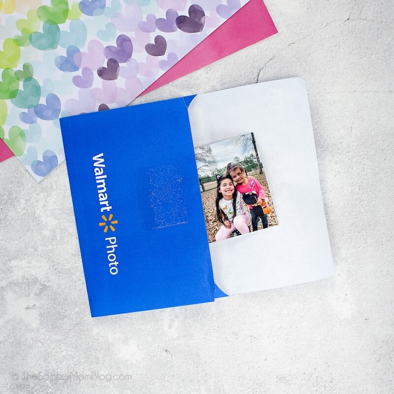 Walmart Photo envelope with kid's photo