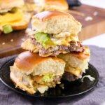 hamburger sliders inspired by McDonalds Big Mac