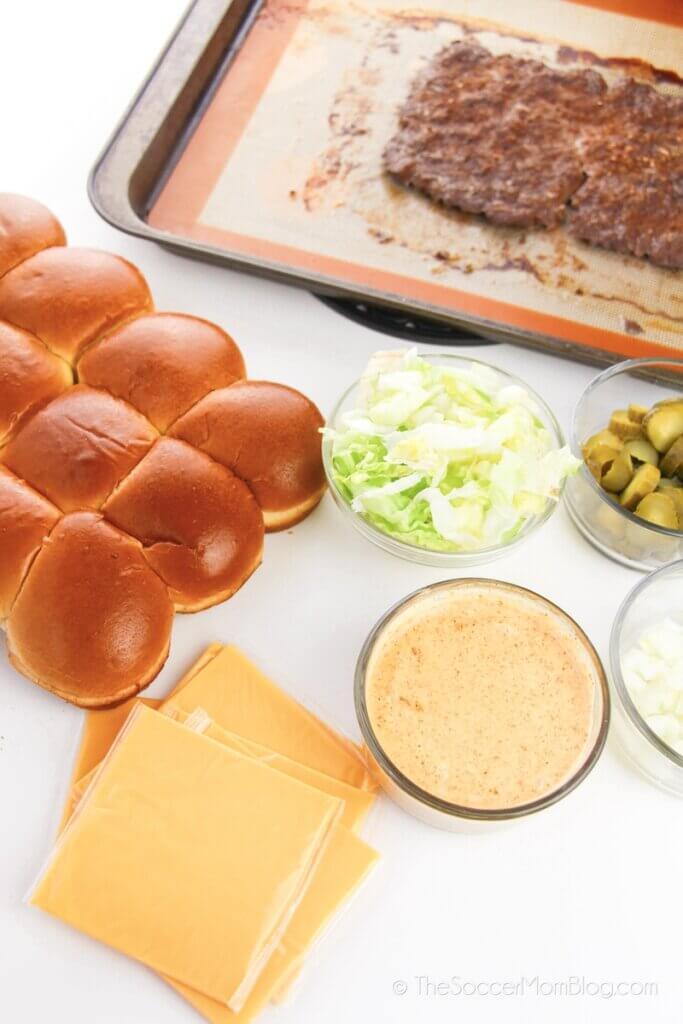 ingredients needed to make hamburger sliders