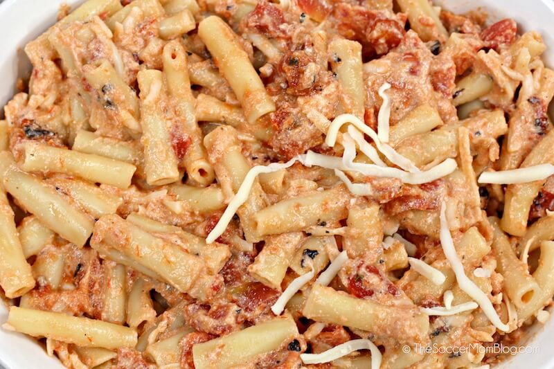 baked pasta with creamy tomato sauce