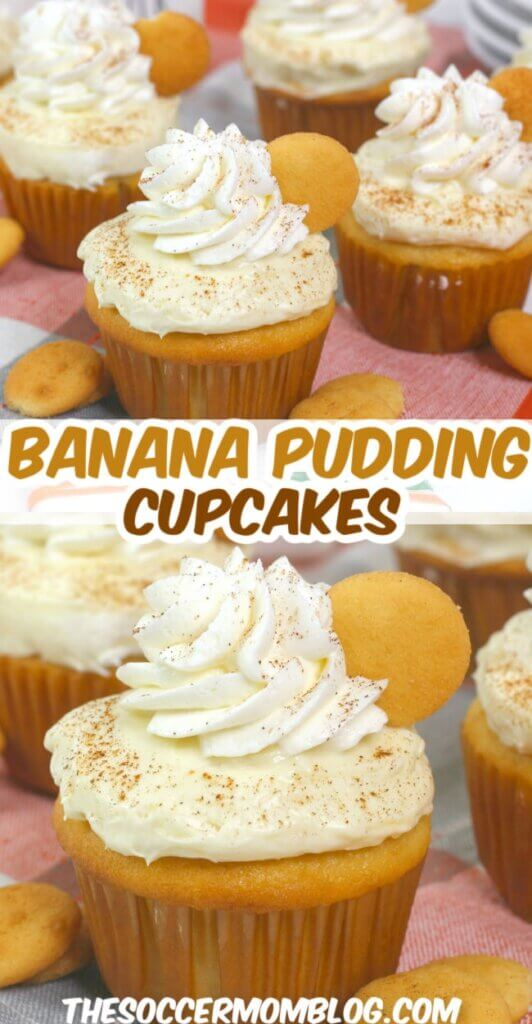 Sweet bananas and creamy frosting with a hint of cinnamon, these Banana Pudding Cupcakes are a sweet treat the whole family will enjoy!
