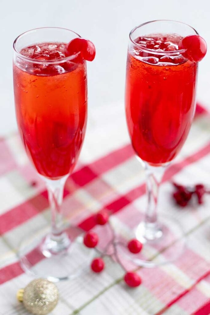 Shirley Temple in champagne flute