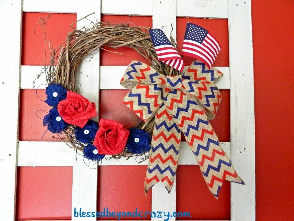 farmhouse 4th of July wreath