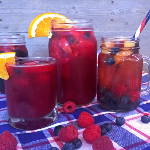 red fruit drink with berries