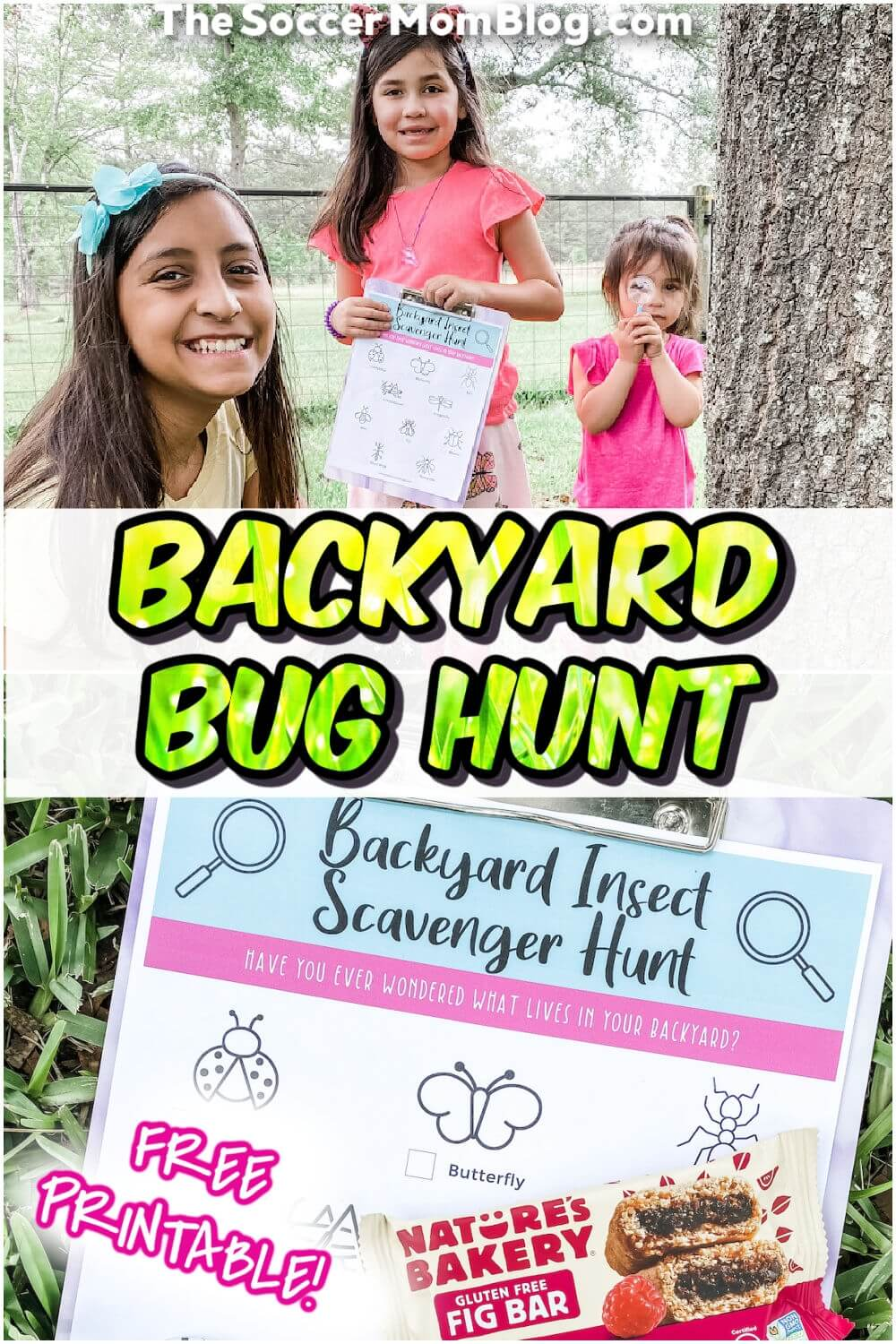 backyard scavenger hunt and kids outdoors