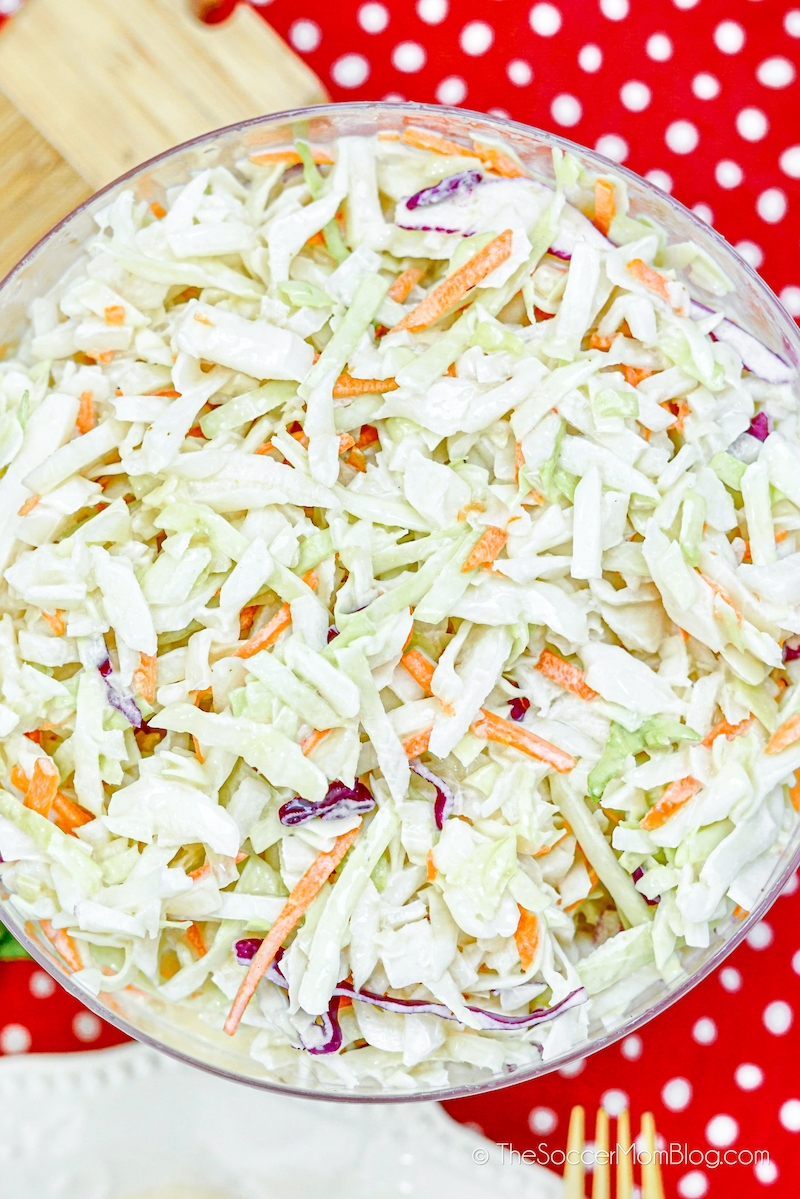 serving bowl of Chick-Fil-A coleslaw