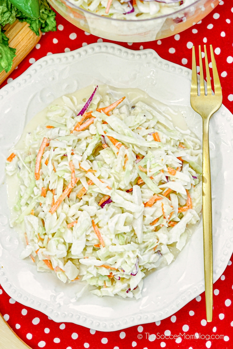 Chick-Fil-A coleslaw on plate